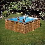 piscine bois carre 3 00 x 3 00 x h1 19m