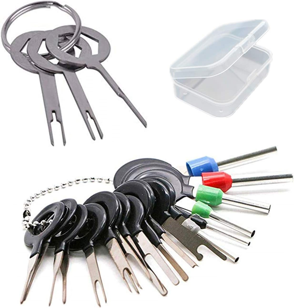 Youu 21 Stück Pin Extractor Tool Entriegelungswerkzeug Auspinn Werkzeug Handwerkzeug Set Für Flach Und Rundsteckkontakte Mit Aufbewahrungsbox Baumarkt
