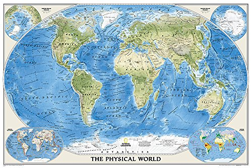 National Geographic: World Physical Wall Map (36 x 24 inches) (National Geographic Reference Map)