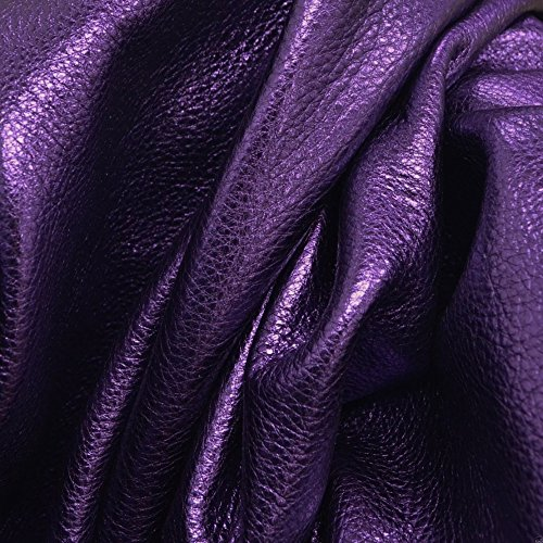 (Purple Reign Metallic Vegas Cowhide Leather Sheet 12