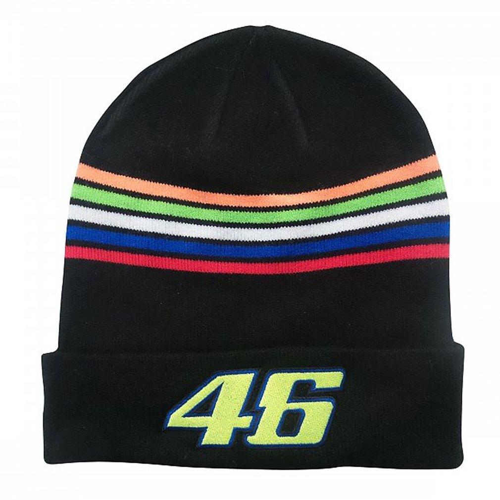 Valentino Rossi VR46 Moto GP The Doctor Stripes Beanie Black Official 2018 VR/46