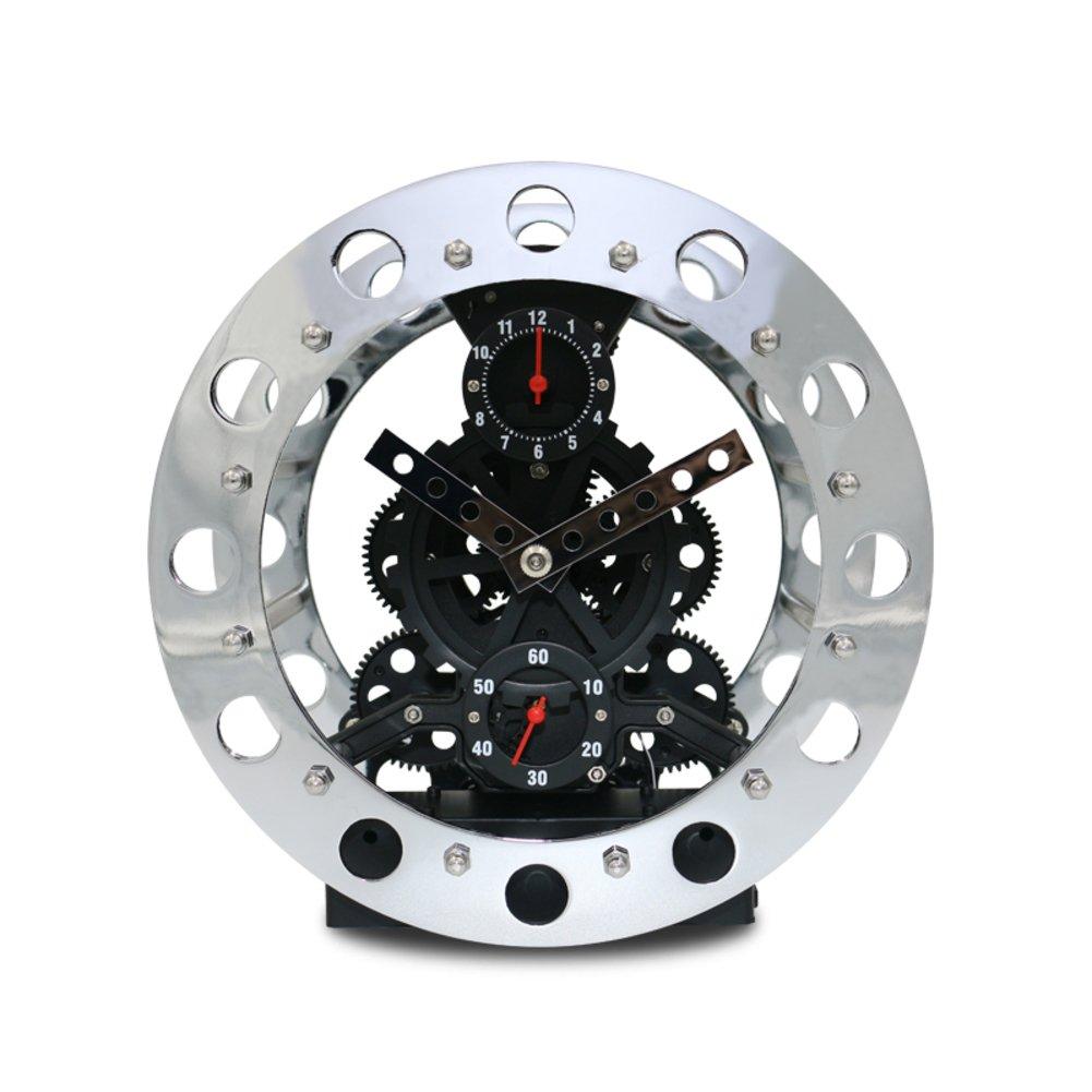 Metal skeleton gear clock/ creative clock/ the Bell alarm clock/Clock/ the living room clock-B by FSHFK