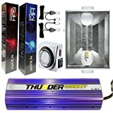 THUNDER (TM) STARTER KIT 1000-Watt Light Digital Dimmable HPS MH Grow Light System for Plants with Sunmax 6-Inch White Air Coolable Reflector - 5 Years Manufacturer Warranty (1000 - Watt Ballast, 2 Bulb (HPS & MH))