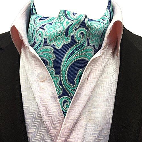 Ljb Scarf Reversible 14 Blue Neck Mens Paisley Plaid Tie YCHENG Elegant Floral Ascot Jacquard Cravat pnfTU7zq