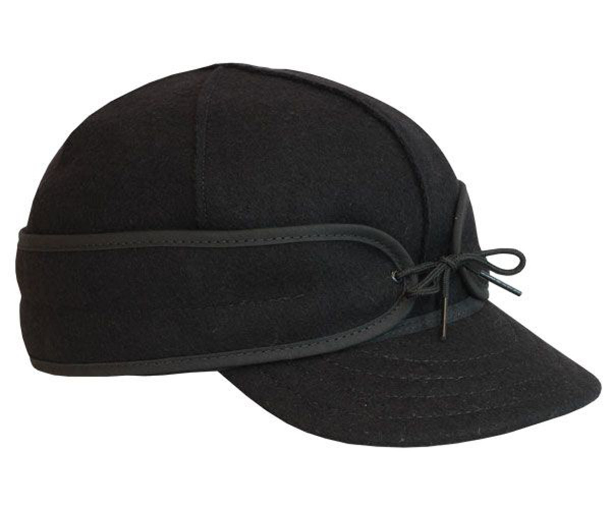 The Original Stormy Kromer Wool Cap Black, 6 1/2