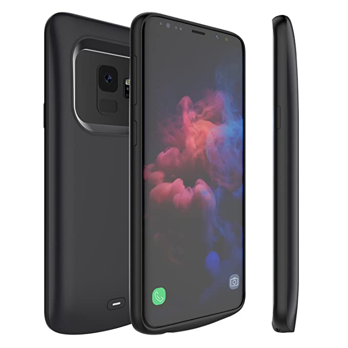 Galaxy S9 Battery Case, External 4700mAh Portable Backup Charger Pack with  Soft TPU and Full Edge Protection Type C Extended Power Bank Charging Case