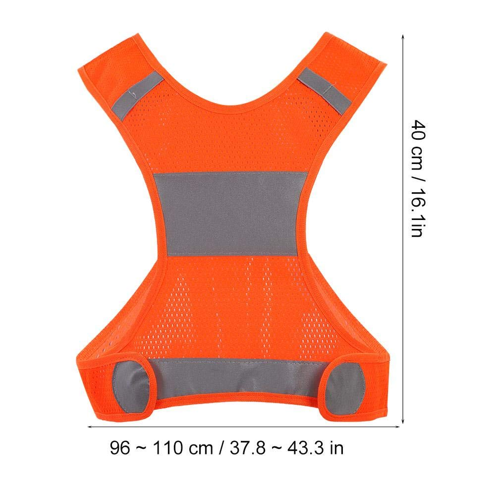 Walking VGEBY Fluorescent Yellow XL Lightweight High Visibility Vest for Running Jogging Motorcycle Motorcycle Reflective Vest Cycling