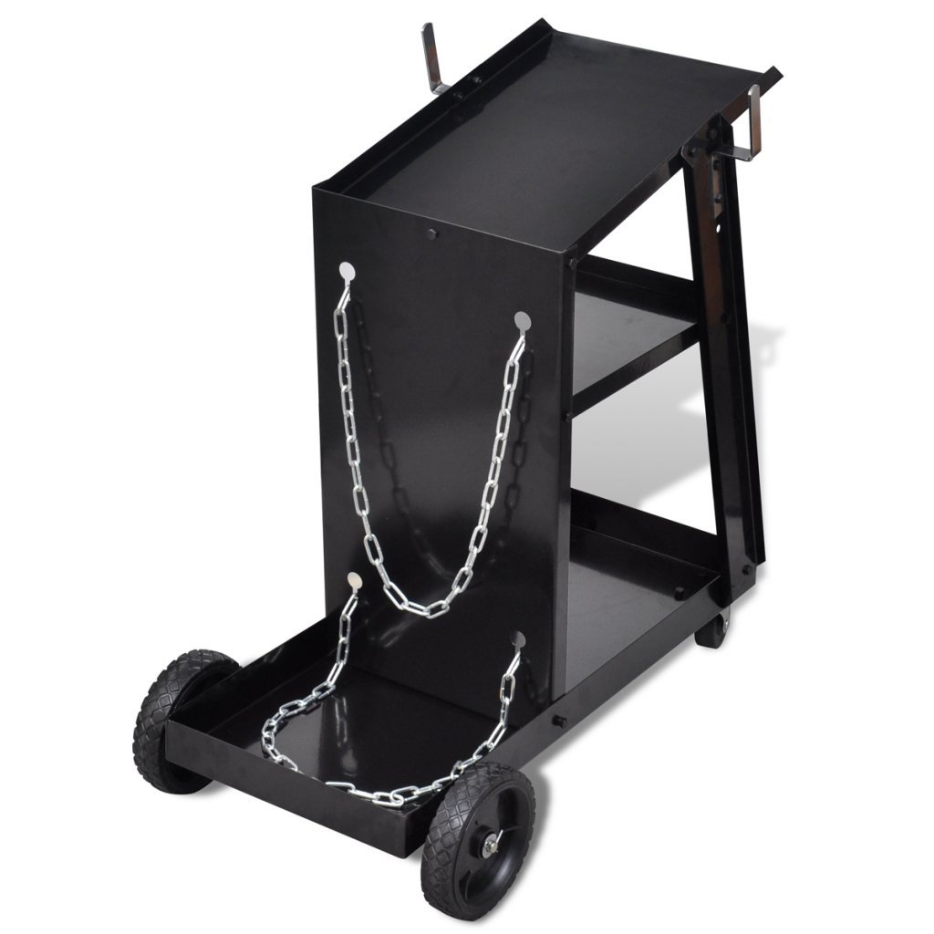 Amazon.com: Daonanba Welding Cart Black with 3 Shelves Workshop Organizer Steel Tool: Home Improvement