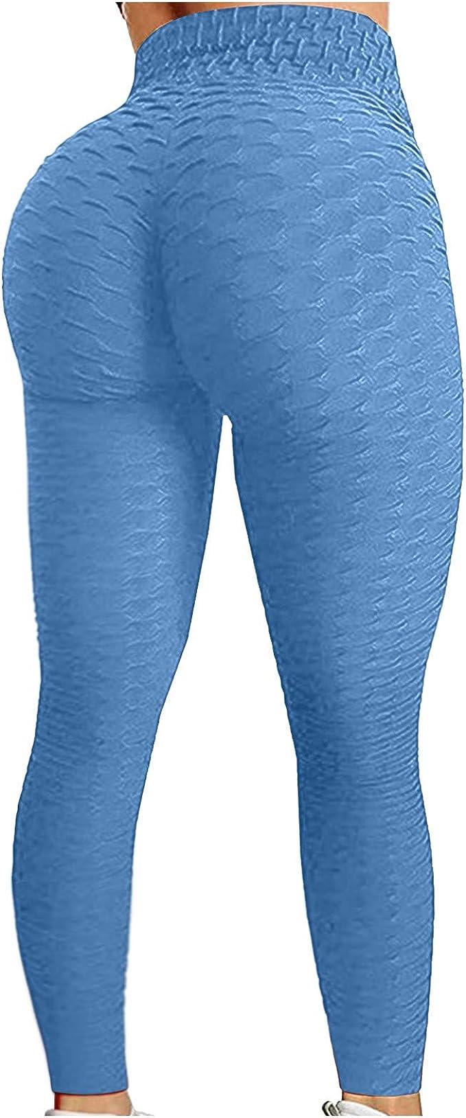 Zetiy Damen 5er-Set Strech Tights Sport Yoga Trainingsanzug XL, Rose Rot
