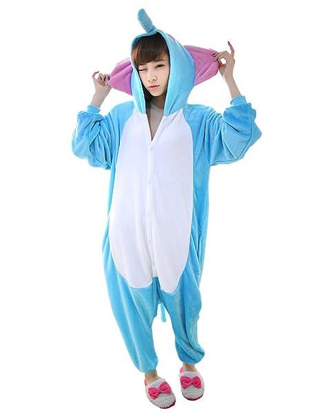 prezzo competitivo d31cd 41fd2 Ferrand Kigurumi Pigiama Unisex Adulto Cosplay Costume Animale Pigiama  Elefante Blu Xl