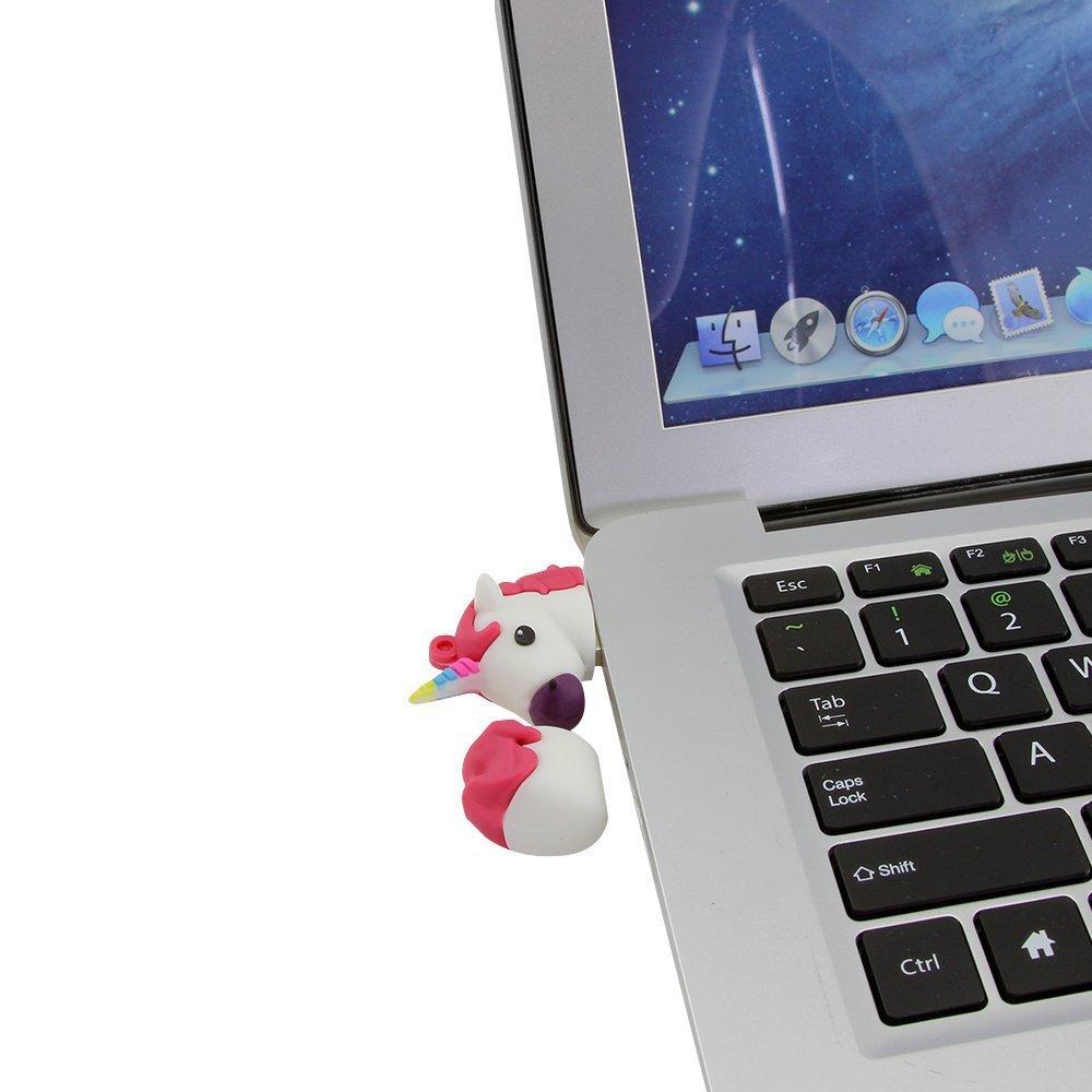 Novelty Unicorn Shape Design 16GB USB 2.0 Flash Drive Cute Memory Stick Horse Thumb Drive Data Storage Pendrive Cartoon Jump Drive Gift by Yatai (Image #8)