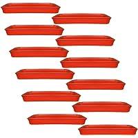 TrustBasket UV Treated Rectangular Bottom Tray(Plate/Saucer) for Rectangular Plastic Pot - Terracotta Color