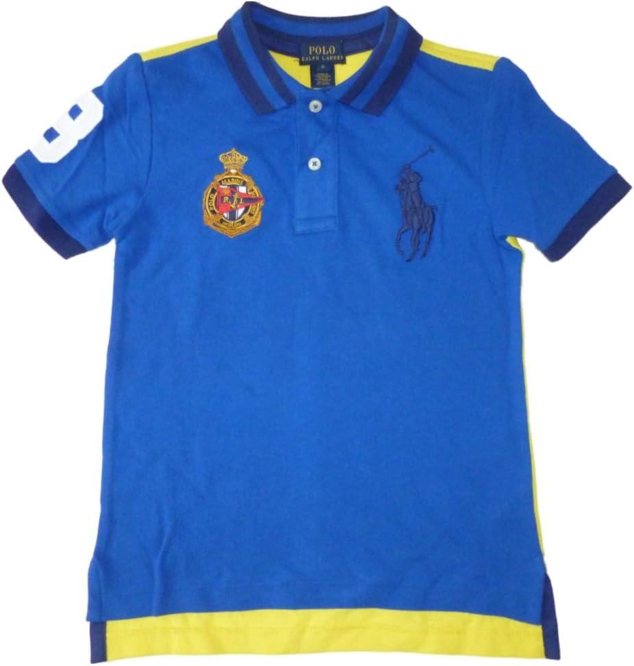 Ralph Lauren Niños Polo Camiseta de Royal Azul Amarillo Big Pony ...