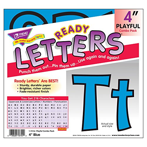 Trend T79744 Ready Letters Playful Combo Set, Blue, 4