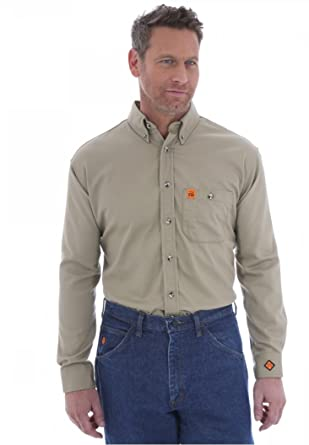 0a9dff7fd Amazon.com: Wrangler FR3W10 RIGGS Workwear Flame Resistant Solid ...