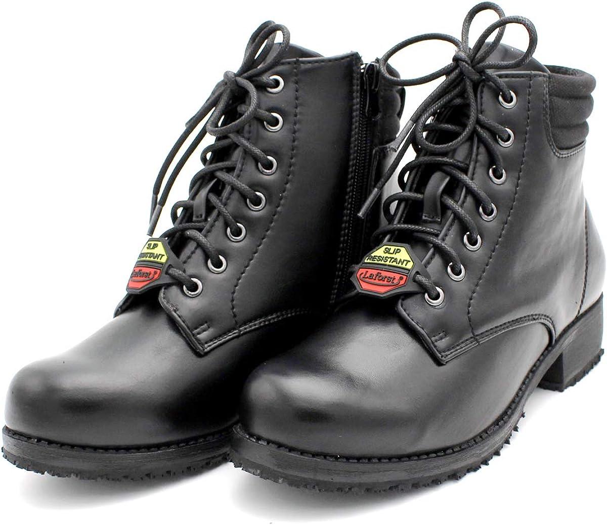 Laforst Womens 2289 Slip Resistant Work Ankle Black Boots