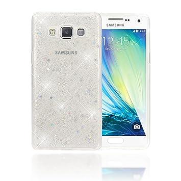 NALIA Funda Compatible con Samsung Galaxy A5 2015, Purpurina Carcasa Movil Protectora Cubierta Delgado Glitter Star Silicona-Case, Ultra-Fina Bumper ...