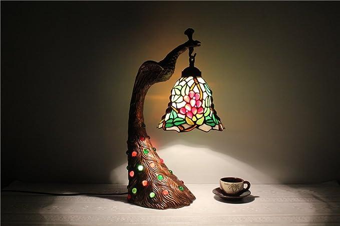 Lampade In Vetro Colorate : Lampada in stile liberty con stelo in ottone e paralume in vetro