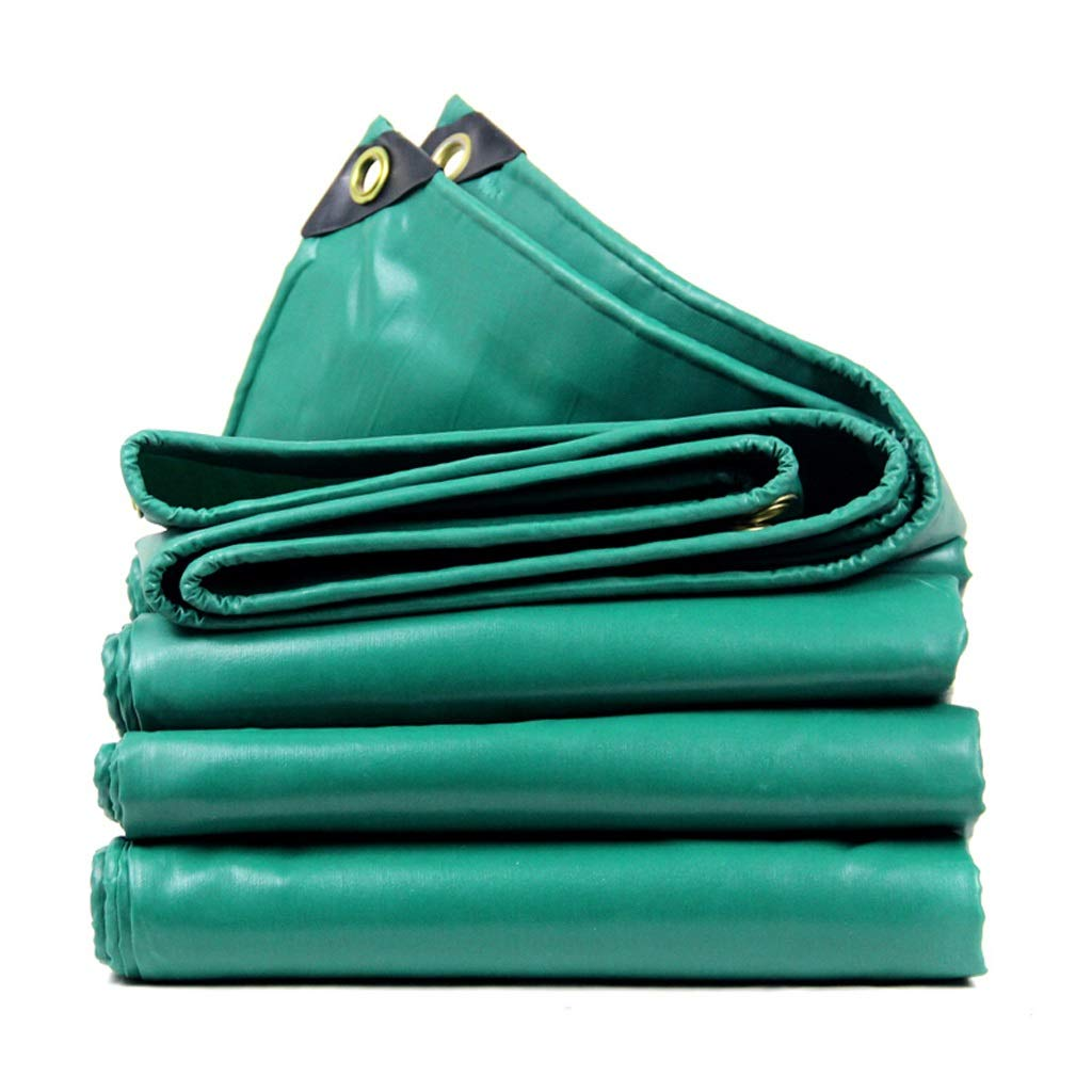 Green 43m Tarps Thick Waterproof Sunscreen Block Shade Cloth Outdoor Insulation Canopy Waterproof Cloth Tarpaulin,PVC Waterproof Cloth Tarpaulin Camping & Hiking (color   Green, Size   4  3m)