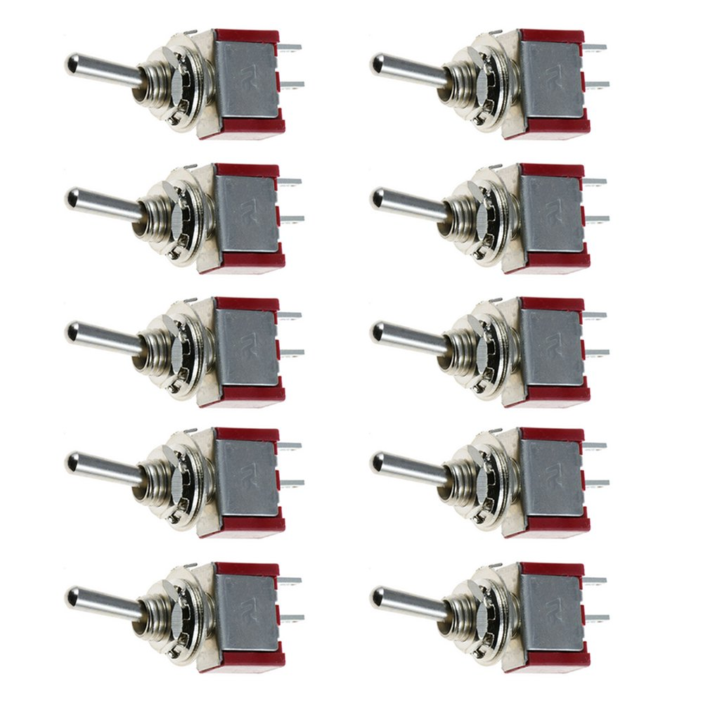 Etopars/™ 10 X On//Off//On Mini Miniature Toggle Switch Car Dash Dashboard SPDT 3Pin