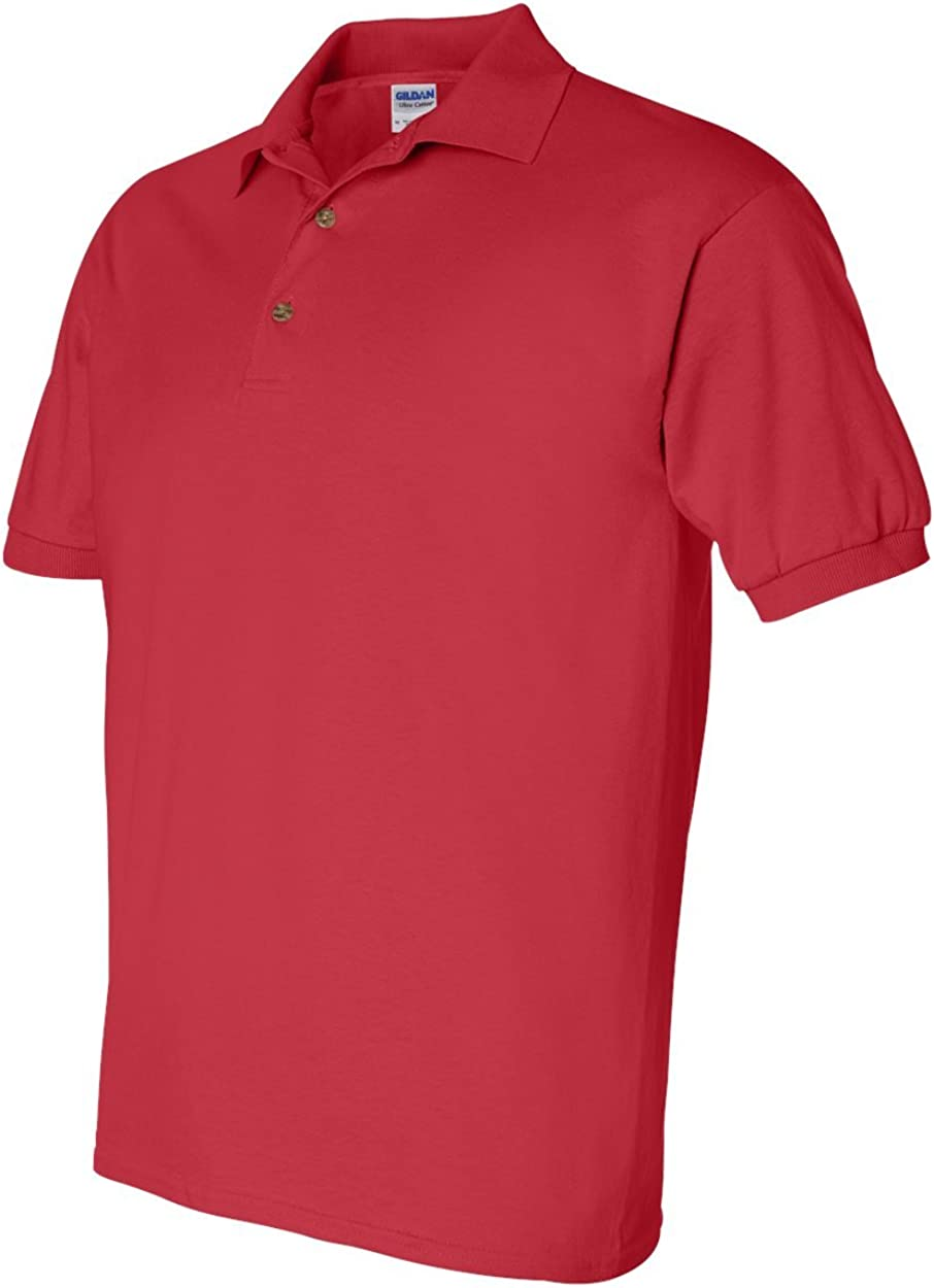 Pack of 12 M Gildan Ultra Cotton 6 oz Jersey Polo G280 Red