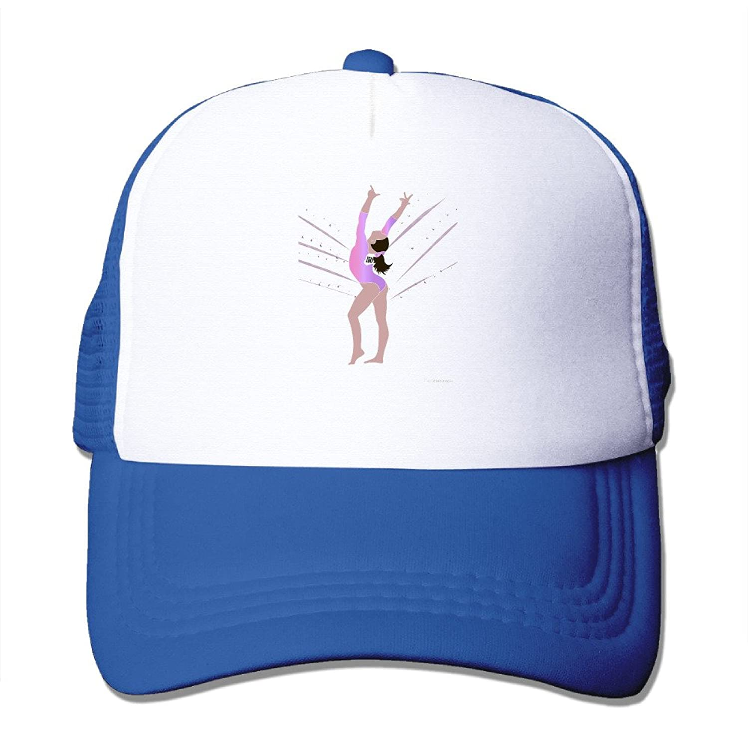 Causal Olympic Gymnast Purple Adult Nylon Adjustable Mesh Hat Leisure Hat RoyalBlue One Size Fits Most