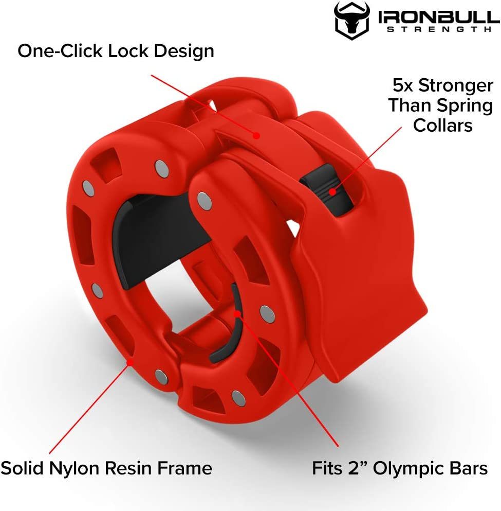 Pair Barbell Collars Olympic Lifts and Strength Training Quick Release Collar Clips Bar Clamps Great for Weight Lifting Locking 2 Olympic Size Weight Clamps