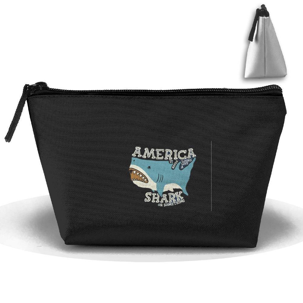 WQWSVX America Shark Fashion Travel Bag Trapezoid