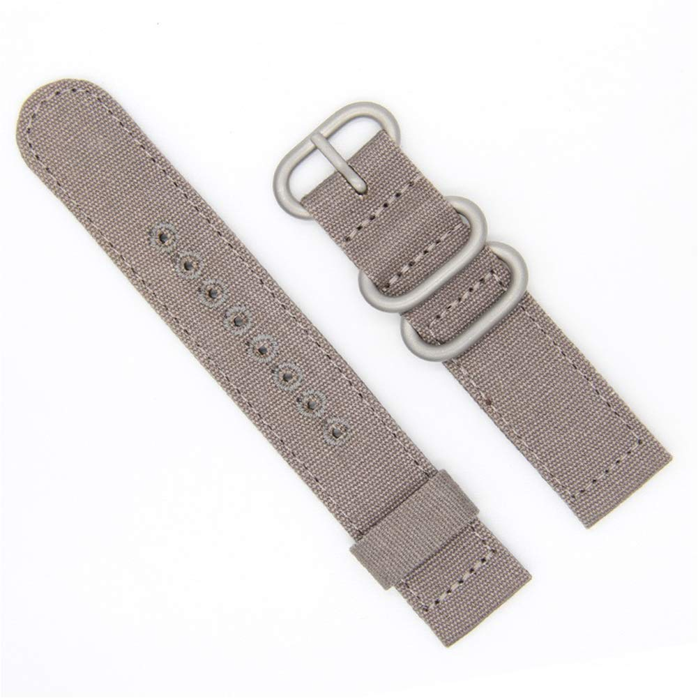 22mm Rugged Khaki Stitched Canvas Watch Strap for Men and Women NATO Straps Dual Cotton Canvas Watch Bands
