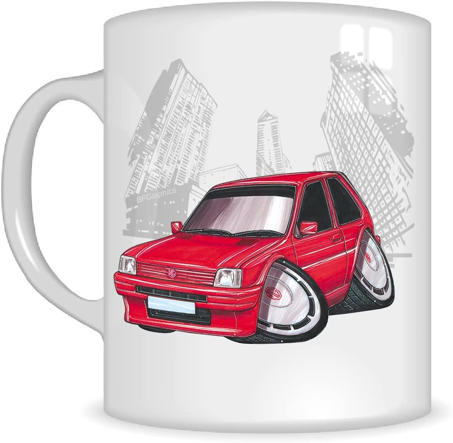 Koolart Gifts K260 Mg Cartoon Of Austin Rover Mg Metro Caricature Red Austin Rover Mug Gift For Men Mugs Amazon Co Uk Kitchen Home