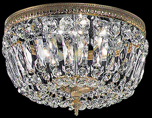 Basket Semi Flush - Classic Lighting 52312 OWB I Crystal Baskets, Crystal, Flush/Semi-Flush, Olde World Bronze