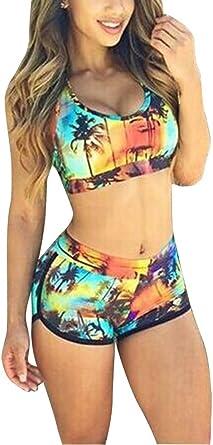 Femme Bikini Maillots de Bain 2 Pièces Imprimé
