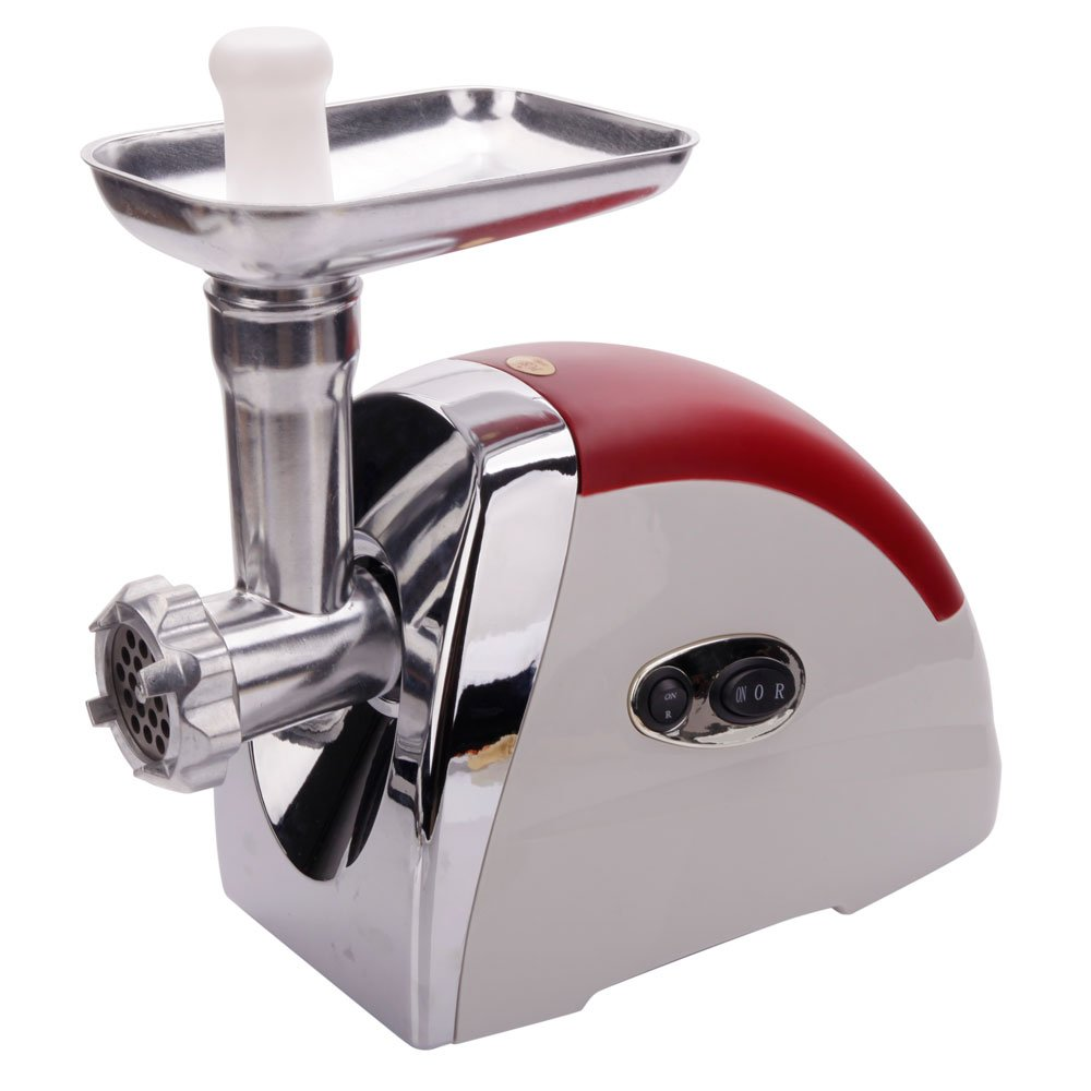 Decdeal Multifunctional Meat Grinder, 2000W Electric Sausage Maker - Rust-Resistant Easy to Clean - Enhanced Heavy-Duty Bearings Kitchen - Red (US Standard)