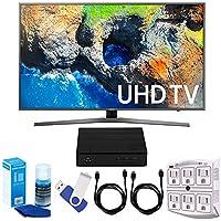 Samsung UN49MU7000 48.5 4K Ultra HD Smart LED TV (2017 Model) Plus Terk Cut-the-Cord HD Digital TV Tuner and Recorder 16GB Hook-Up Bundle