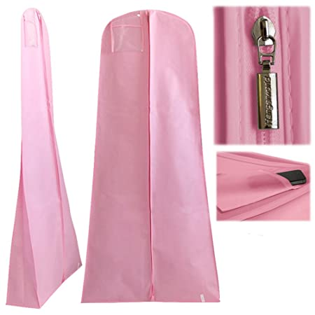 "Deluxe Waterproof Wedding Dress Cover Storage Bag 72"" with SECRET INTERNAL ZIPPED POCKET"