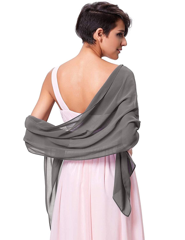 Kate Kasin Damen elegante Chiffon Braut Hochzeit Abendkleid Schal Schal 80 18