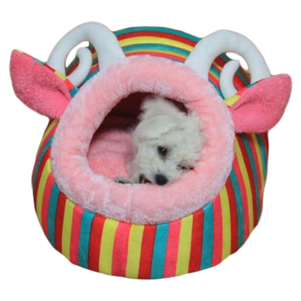 ZooBoo Cama para perro, gato o mascota, para interior o interior, diseño de conejos de cachorro, cojín para caseta de animales pequeños – esponja diseño de conejos de cachorro cojín para caseta de animales pequeños - esponja