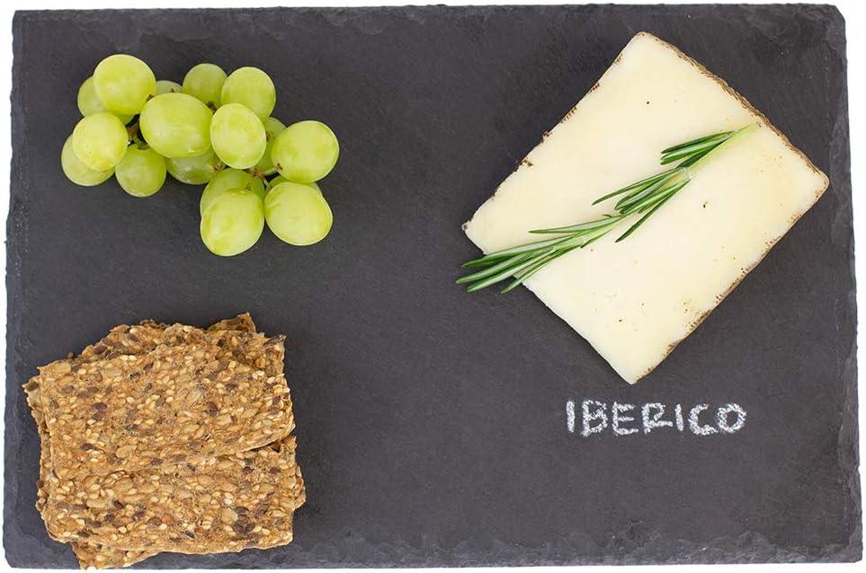 Home Basics Black Modern Slate Cheese Platter Tray (8