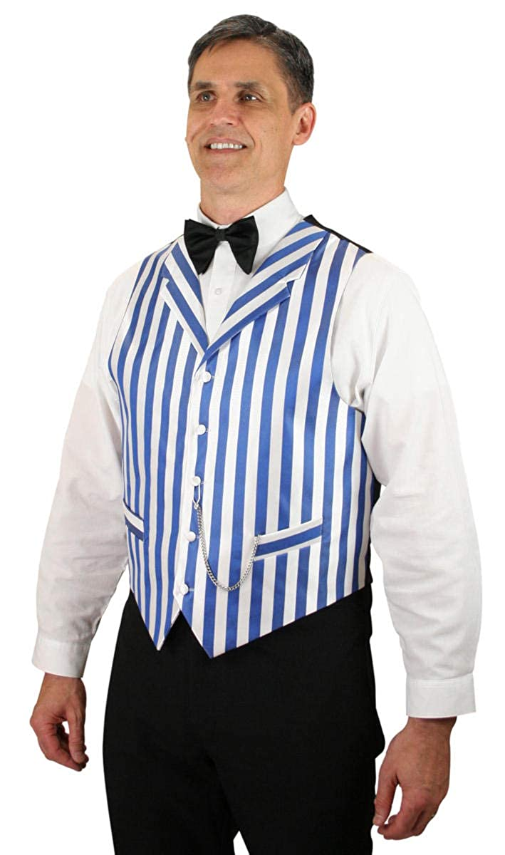 1920s Style Mens Vests Ragtime Satin Striped Dress Vest Historical Emporium Mens $61.95 AT vintagedancer.com