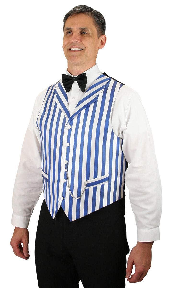Men's Vintage Vests, Sweater Vests Ragtime Satin Striped Dress Vest Historical Emporium Mens $61.95 AT vintagedancer.com