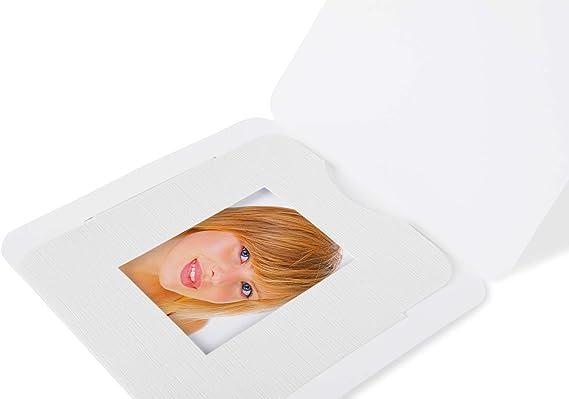 100 Passport Picture Folders For Passport Photos 3 5 X 4 5 Cm Format White Bürobedarf Schreibwaren