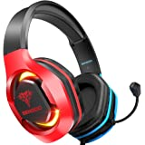 BENGOO G9500 Gaming Headset Headphones for PS4 Xbox One PC Controller, Over Ear Headphones with 720° Noise Cancelling Mic, Bi