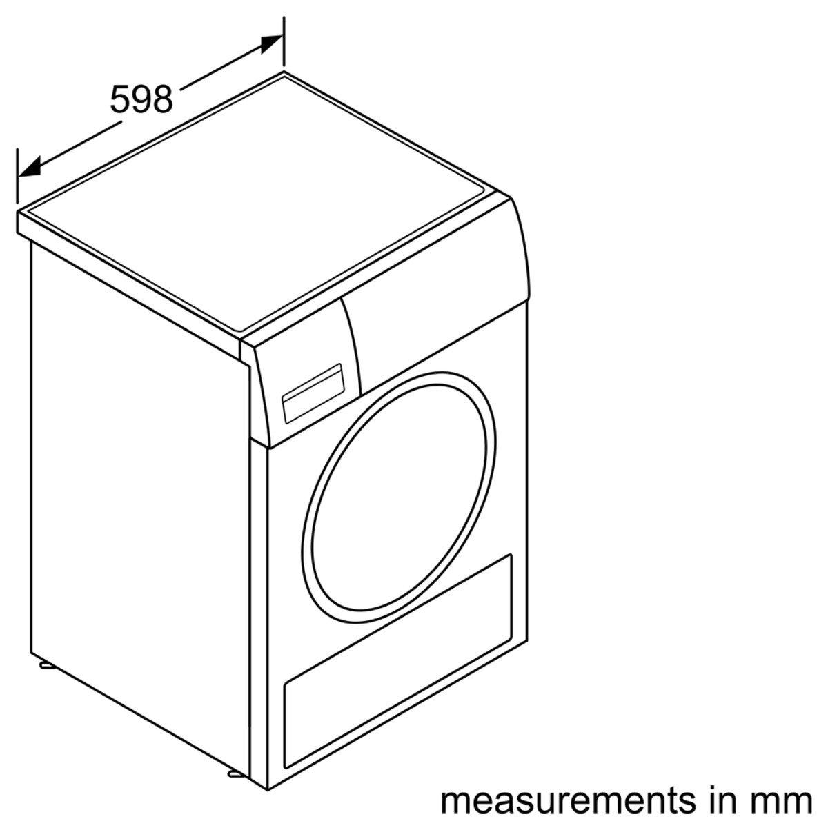 Bosch WTW86271 Color blanco Independiente, Frente, Condensaci/ón, 8 kg, A, Mezclar, R/ápido, Camisa//blusa, Deporte, Programado, Towel, Lana Secadora