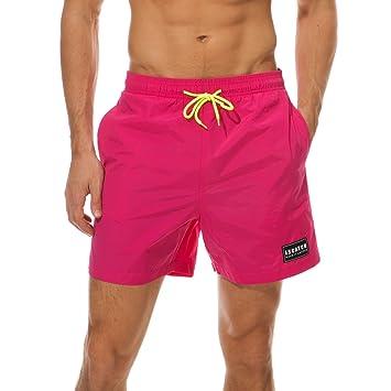 Arcweg Herren/Jungen Badeshorts Kurz Im Trendigem Kontrastfarbe Badehose  Schnelltrocknend Beachshorts Boardshorts Strand Shorts Mesh