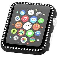 Cooljun Compatible avec Apple Watch Series 4 40mm/44mm,Montre étui de Protection Cadre Cristal Aluminium Cadre Pare-Chocs