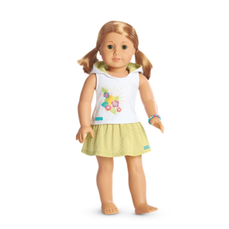 24892d9ece77 Amazon.com  American Girl Summer Hoodie Set for Dolls Fun Fashionable  Stylish  Toys   Games