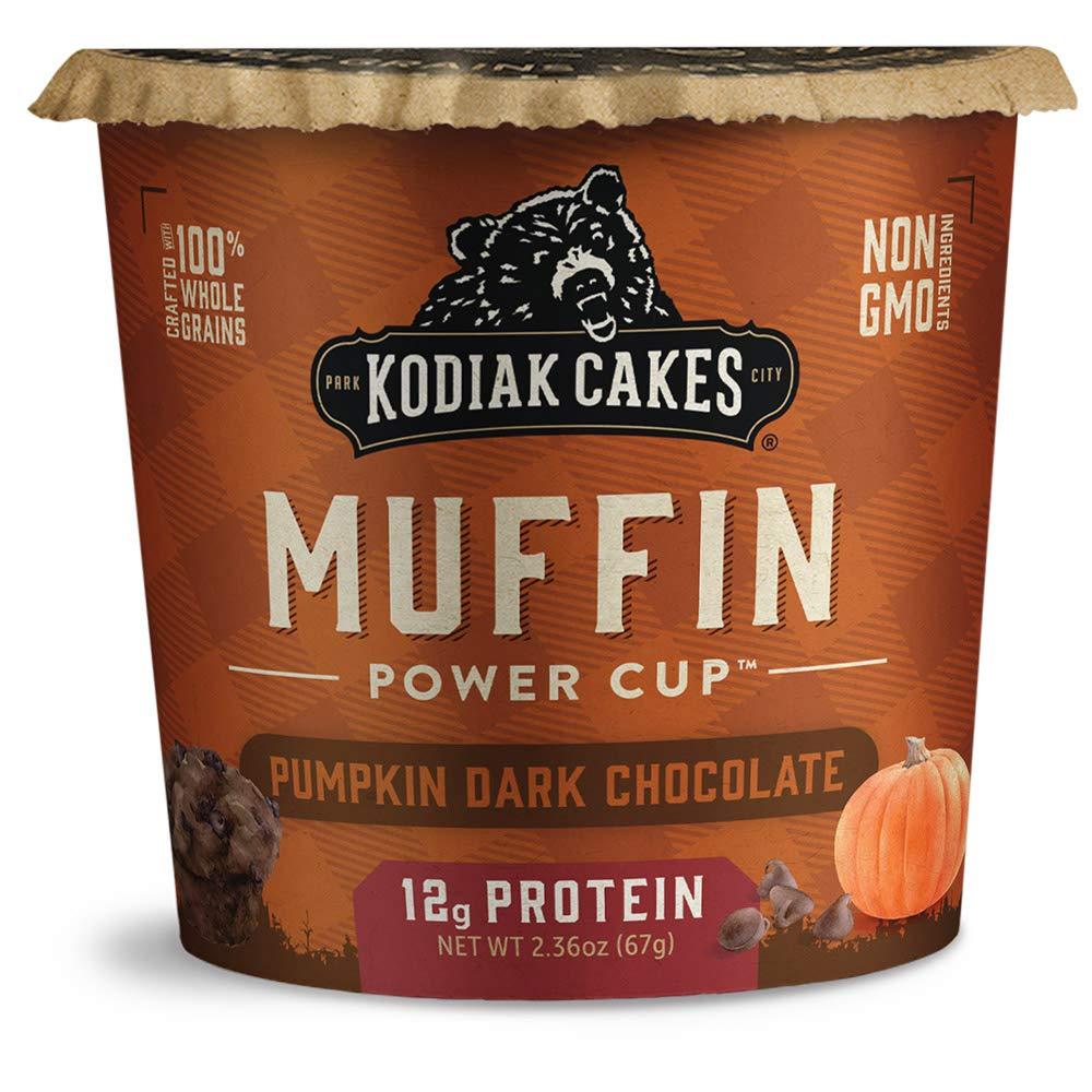 Kodiak Cakes Minute Muffins, Pumpkin Dark Chocolate, 2.36 Ounce (Pack of 12) (Packaging May Vary)