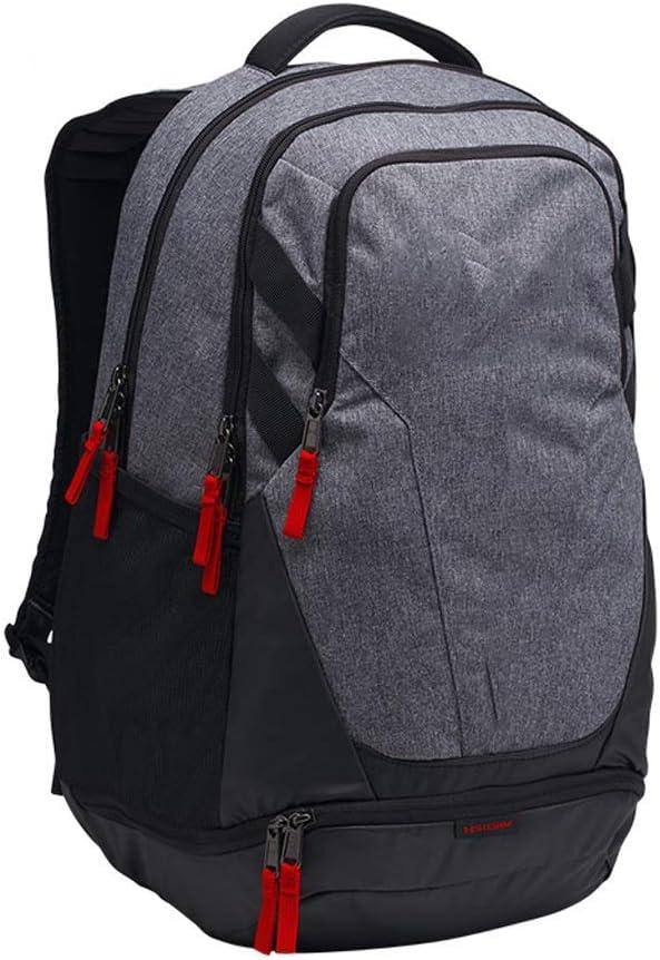 HJBH高品質ポリエステルファイバーバックパックスポーツバックパック防水ファッションカジュアルバッグ大容量サイズ:高48 CM *幅34.5 CM *厚さ23.7 CM(ブラック/グレー)