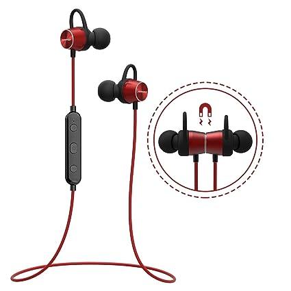 Mpow [Versión Actualizada] Auriculares Bluetooth Deportivos, Auricular Magnético Correr con Manos Libres,