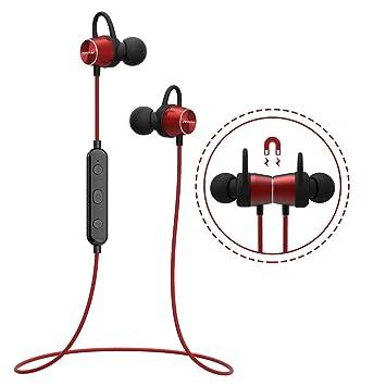 Mpow [Versión Actualizada] Auriculares Bluetooth Deportivos, Auricular Magnético Correr con Manos Libres, Auriculares Bluetooth 4.1 APTX con micrófono, ...
